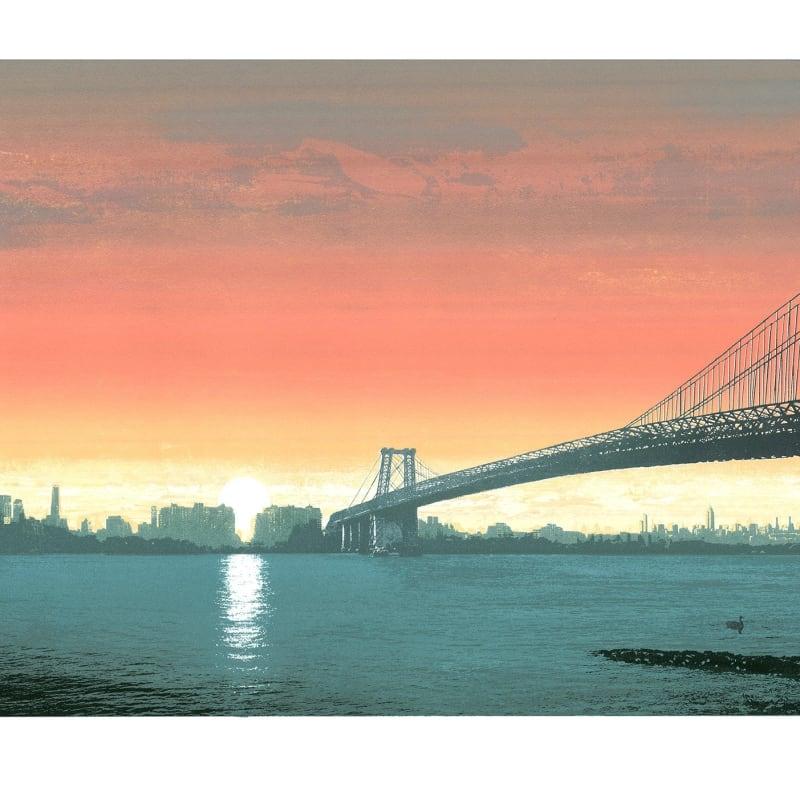 Sunrise Over Battersea Bridge, Unframed Monoprint, 100cm x 70cm, £400