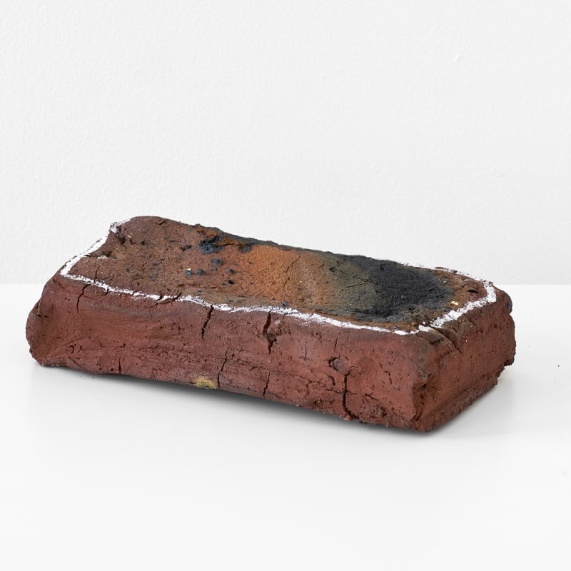 Emily Hesse Put Me on eBay (Reclaim the Wilderness), 2018 Handmade brick from local clay, correction fluid 5.5 x 23.5 x 12 cm Courtesy of the artist and Workplace Foundation