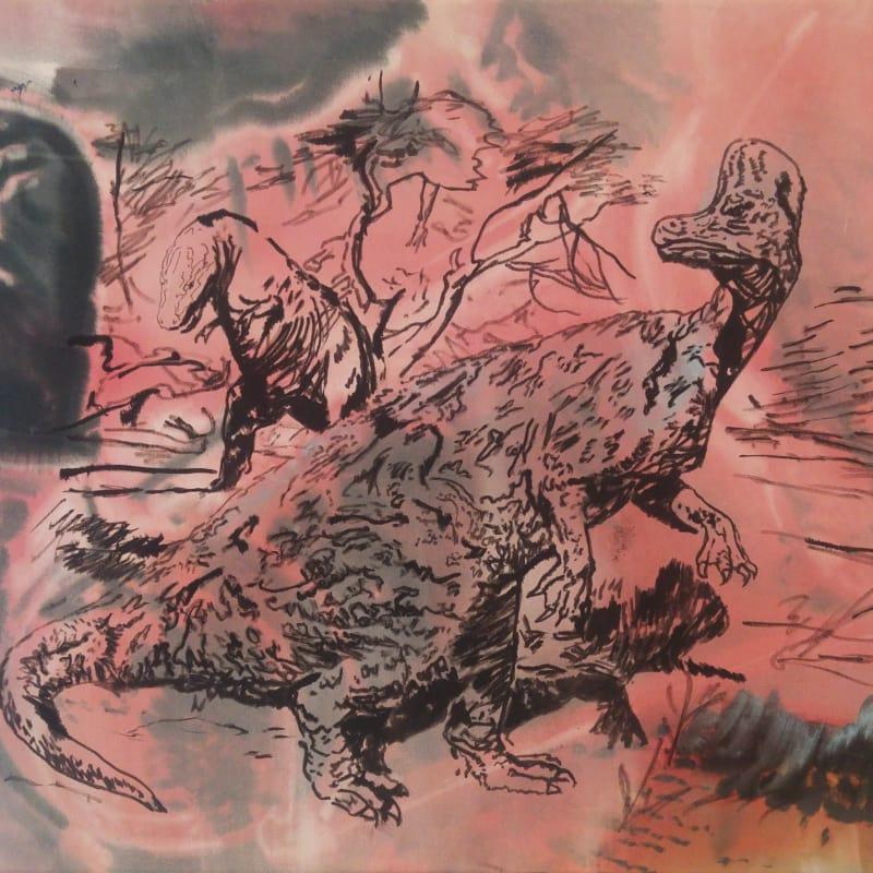 Hugo Canoilas  Black Fist (Burian versus Simondon), 2018  Ink on unprimed canvas  55 x 65 cm  21 5/8 x 25 5/8 in  (HC0147)