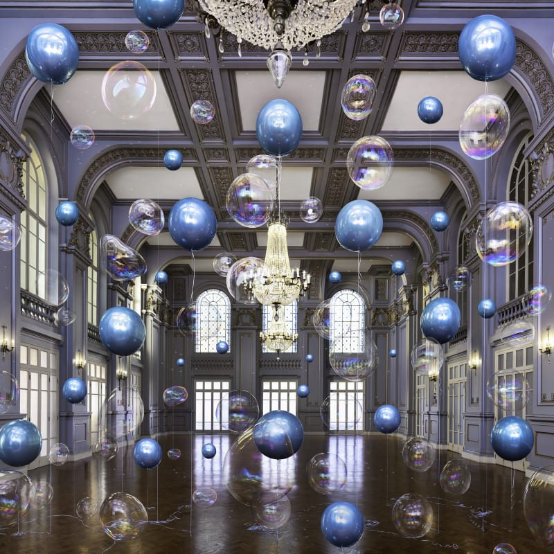Flávia Junqueira, Palace Cassino #1, Salão Azul, 1931, 2020