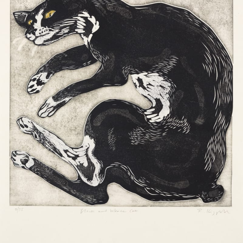 Ralph Kiggell ARE, Black and White Cat