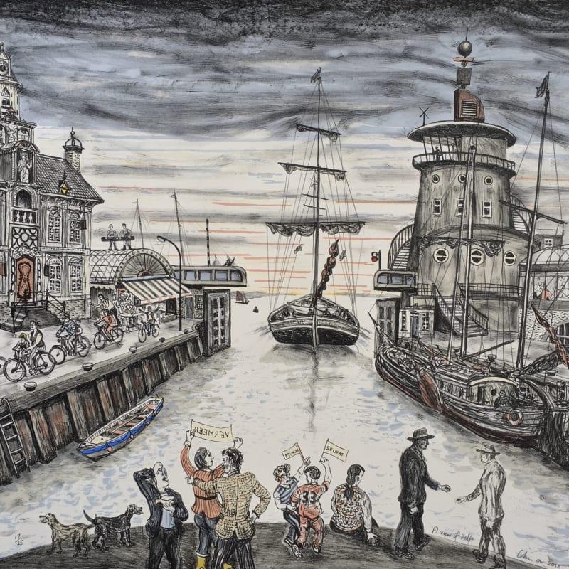 Chris Orr RA RE, A View of Delft