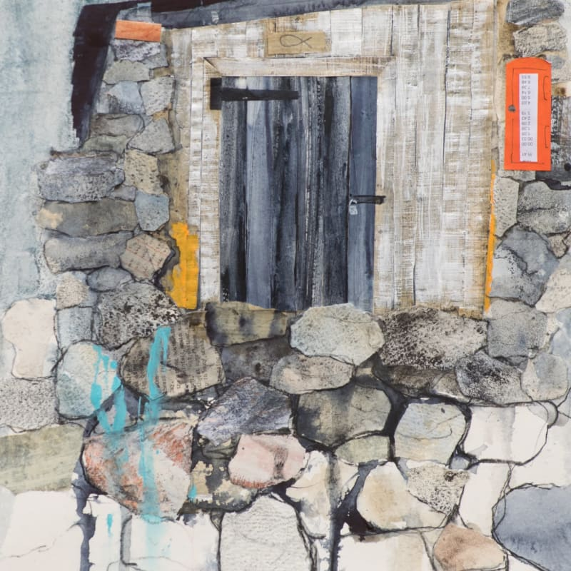 Linda Saul ARWS, Fisherman's Hut, Priest's Cove