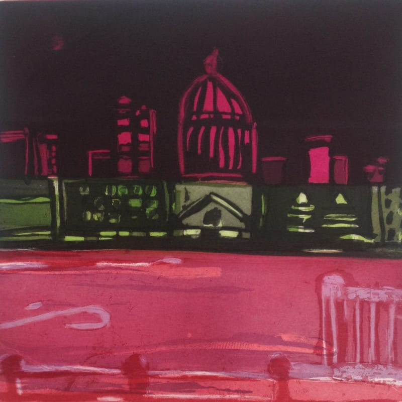 Louise Davies RE, Midnight on the River