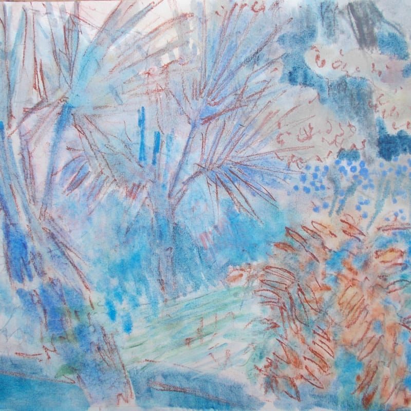 Anne Marlow RWS, Palm Trees and Water