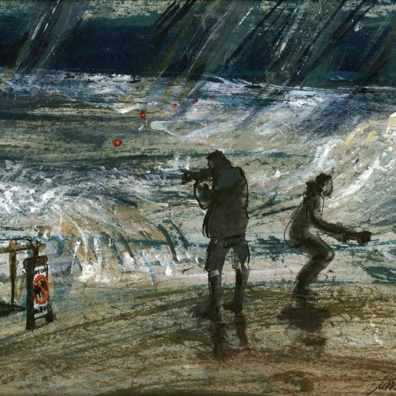 Julia Midgley RWS RE, Shooting the Storm
