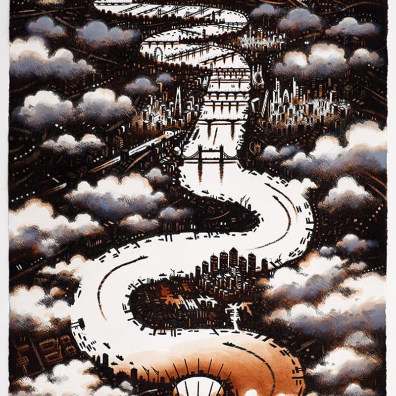 John Duffin ARWS RE, Thames Clouds