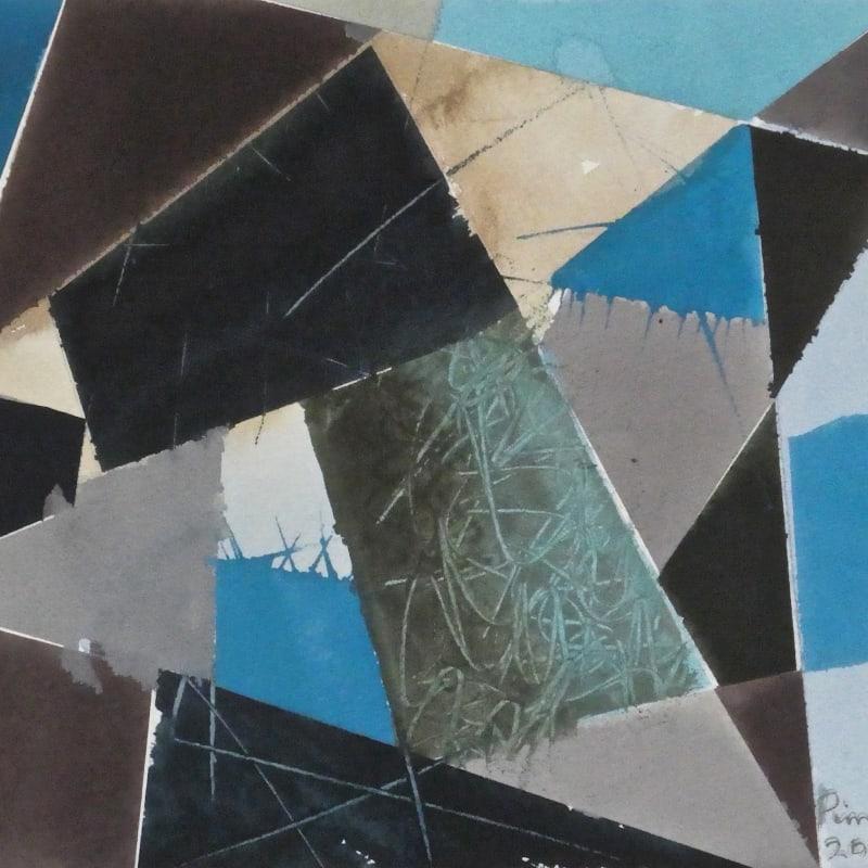 Geoffrey Pimlott RWS, Grey Scratched Blue