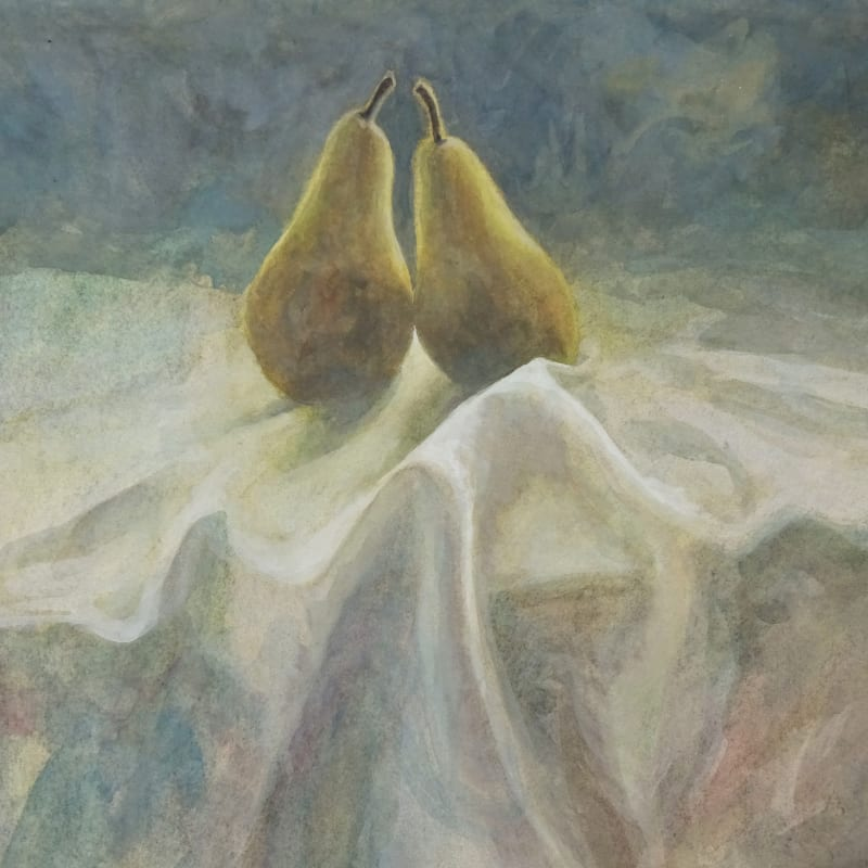 Sarah Holliday RWS, Two Pears