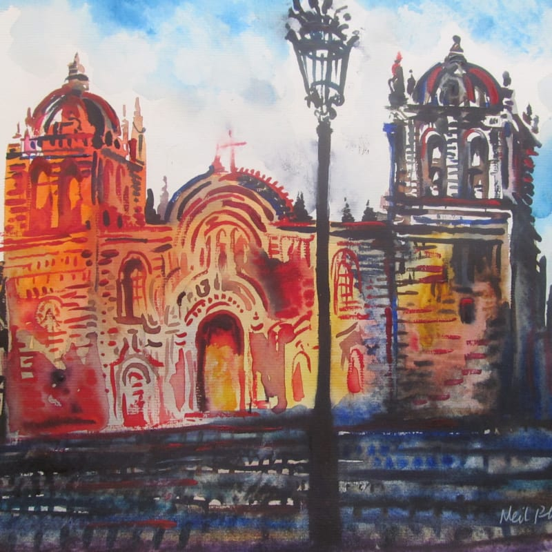Neil Pittaway RWS RE, Cusco Cathedral