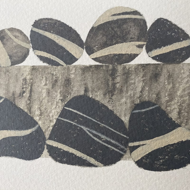 Martin Leman RWS, Seven Stripy Stones