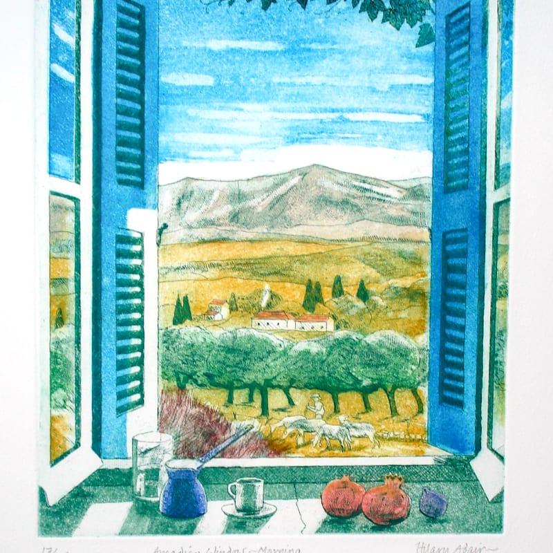 Hilary Adair RE, Arcadian Window, Morning