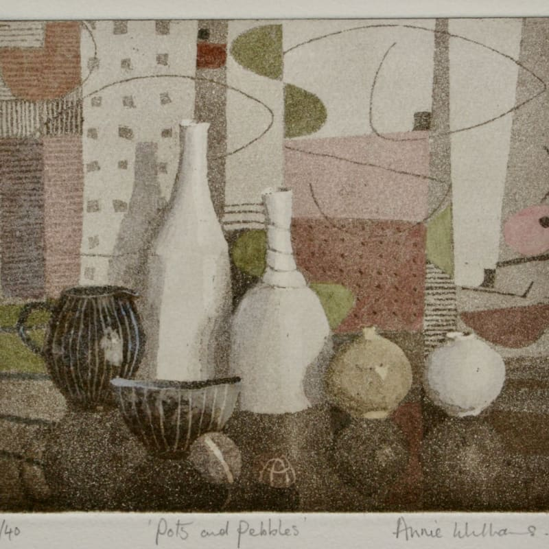Annie Williams RWS RE, Pots and Pebbles