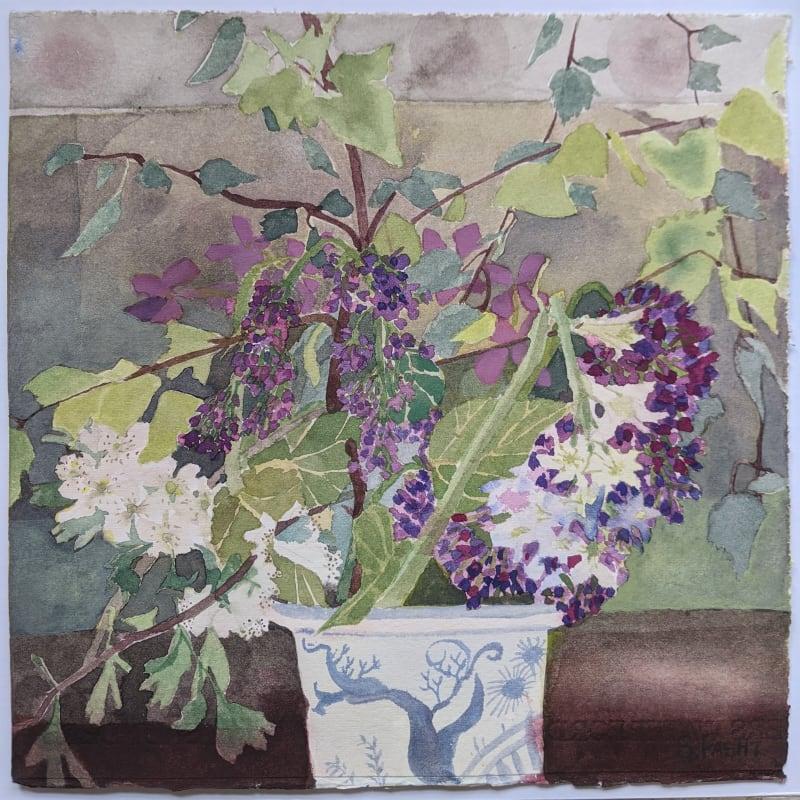 Suzy Fasht ARWS, Spring Flowers with Lilac