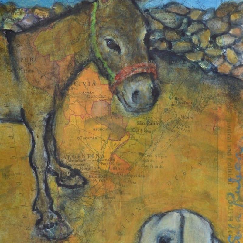 Sula Rubens ARWS, Donkey and Young Goat Study