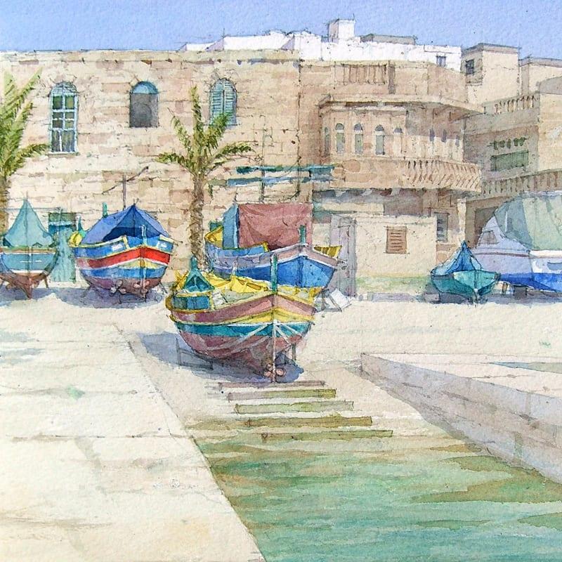 Dennis Roxby Bott RWS, Marsaxlokk, Malta