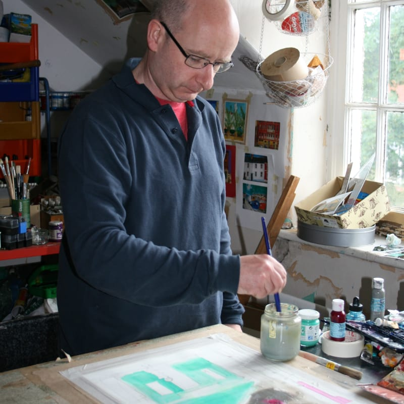 Peter Quinn in his studio