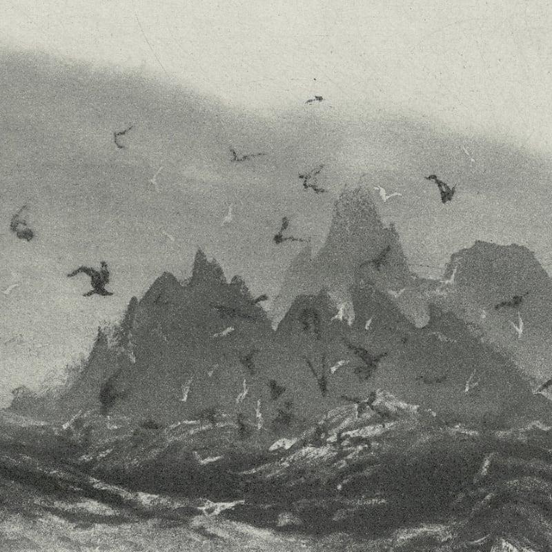 Norman Ackroyd RA RE, Skellig Rocks, etching
