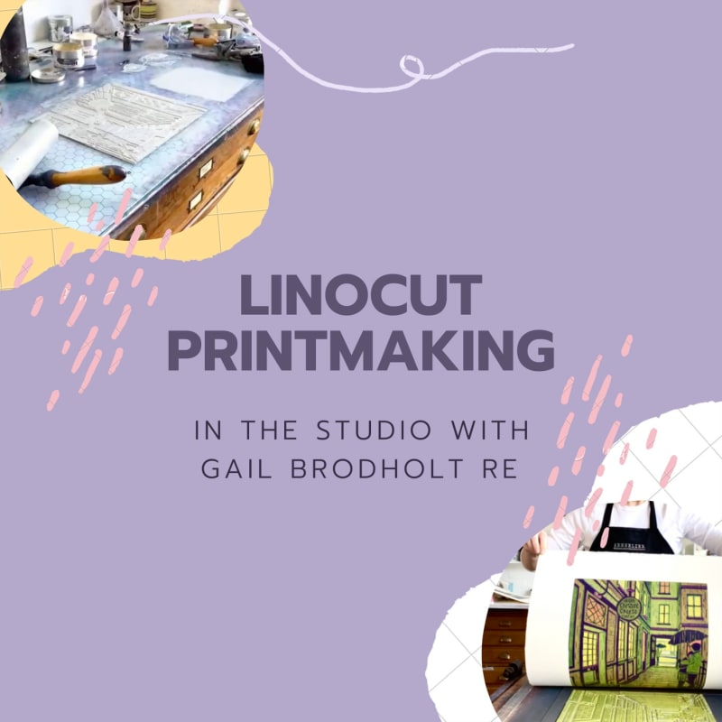Linocut Printing: In the Studio with Gail Brodholt RE