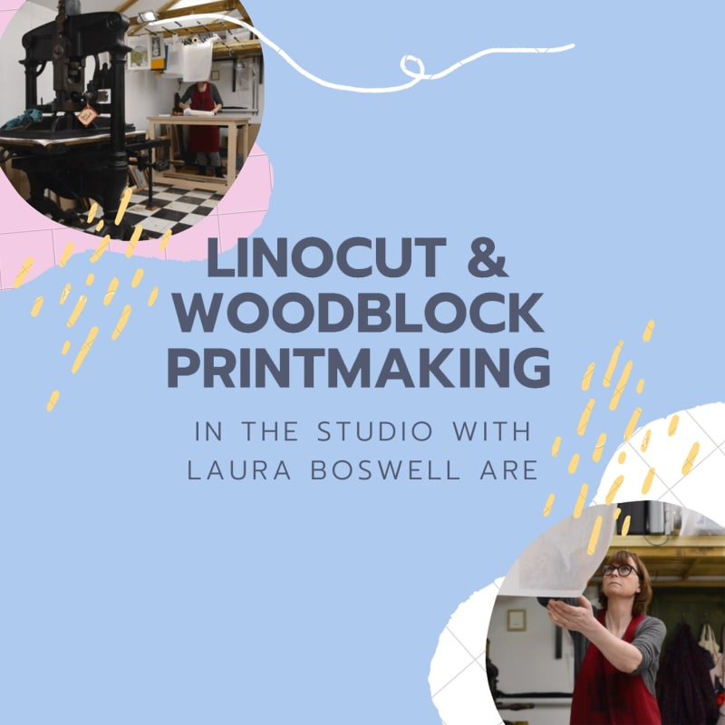 Linocut & Woodblock Printing: In the Studio with Laura Boswell ARE