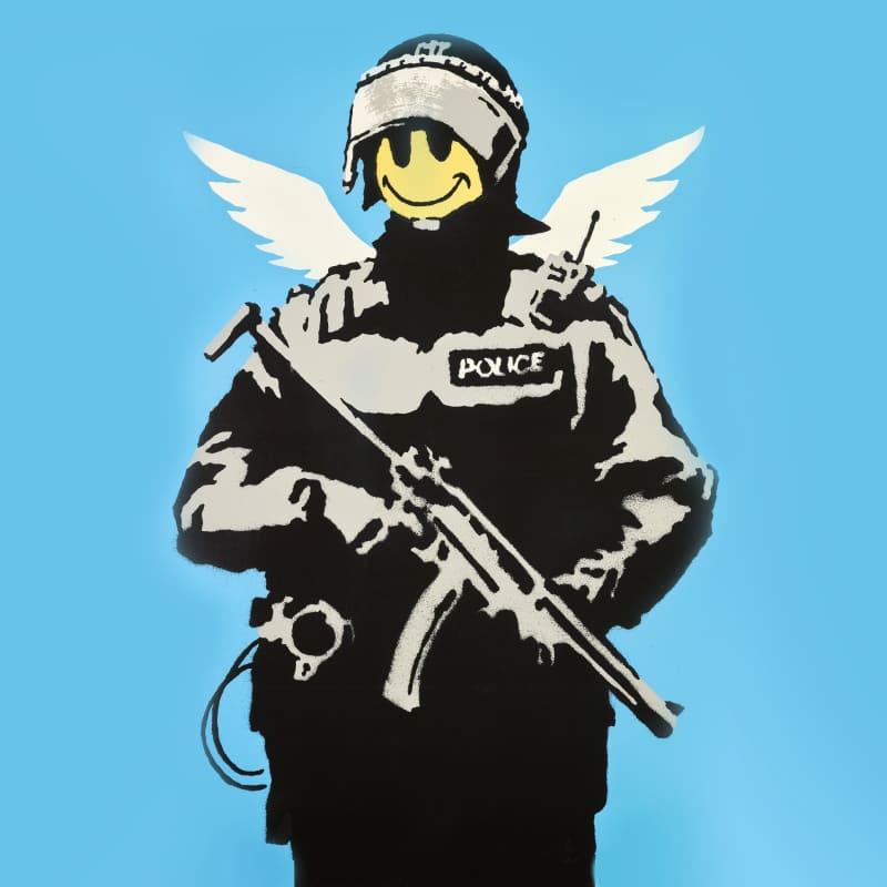 Artwork image: Banksy Flying Copper