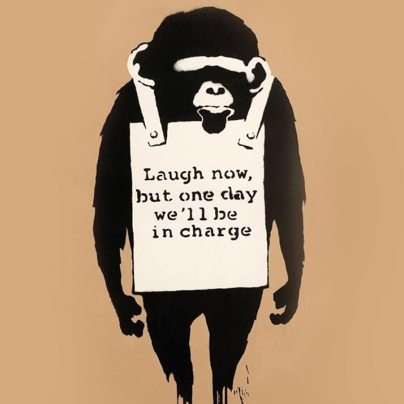 Artwork image: Banksy Laugh Now