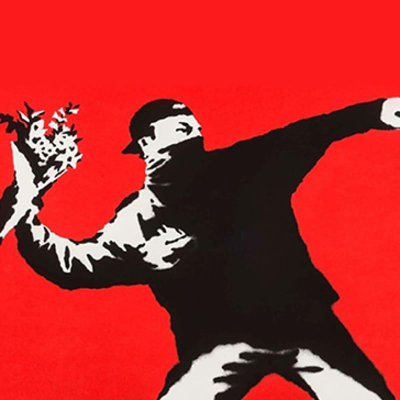 Artwork image: Banksy Love Is In The Air