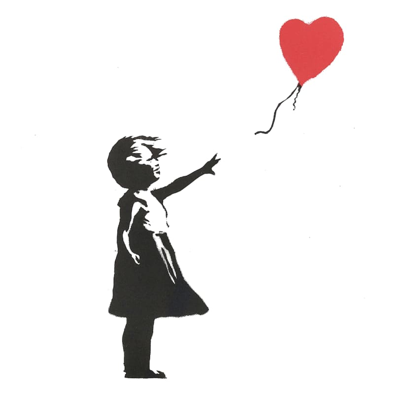Artwork image: Banksy Girl with Balloon