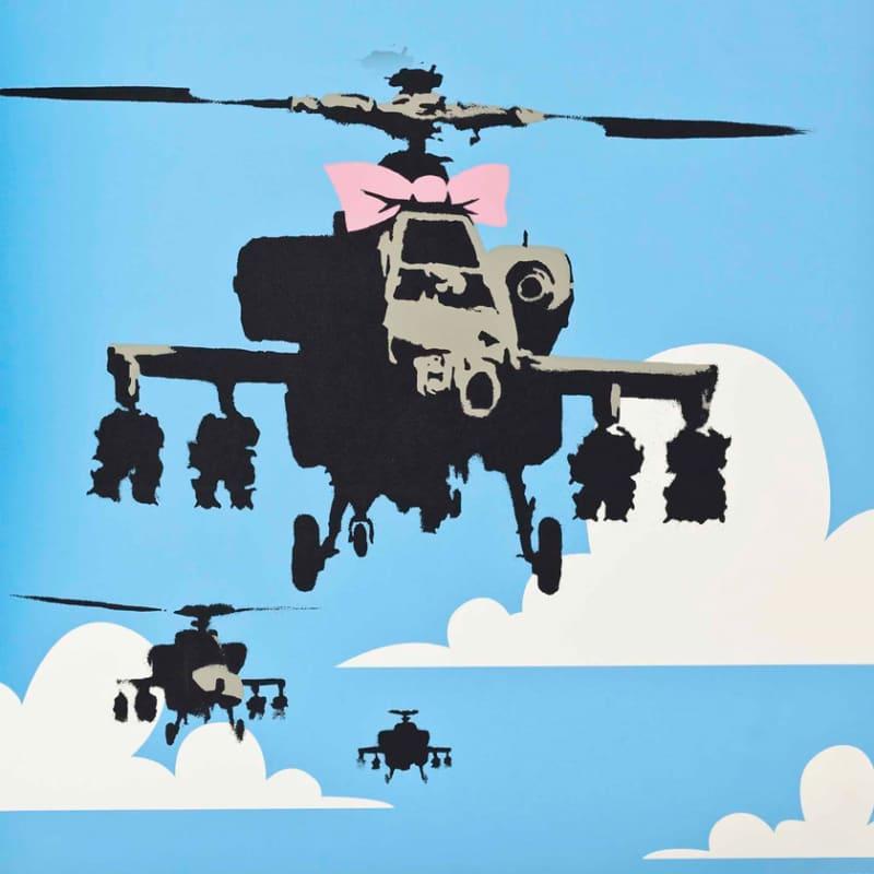 Artwork image: Banksy Happy Choppers
