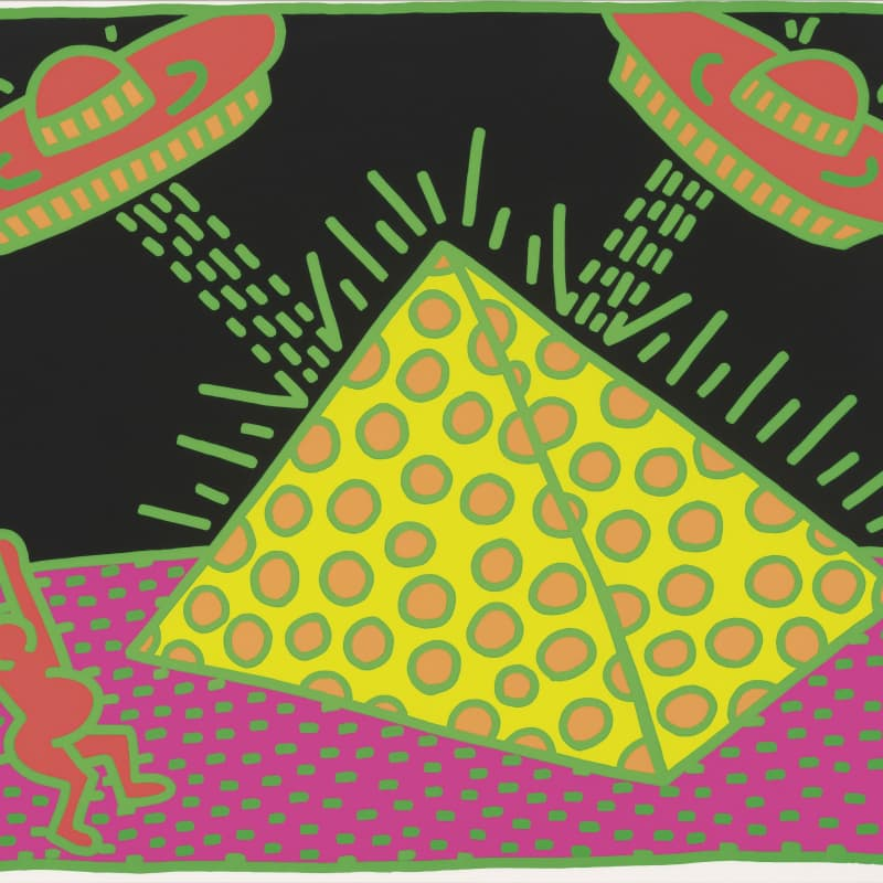 Artwork image: KEITH HARING Fertility Suite, Untitled 2