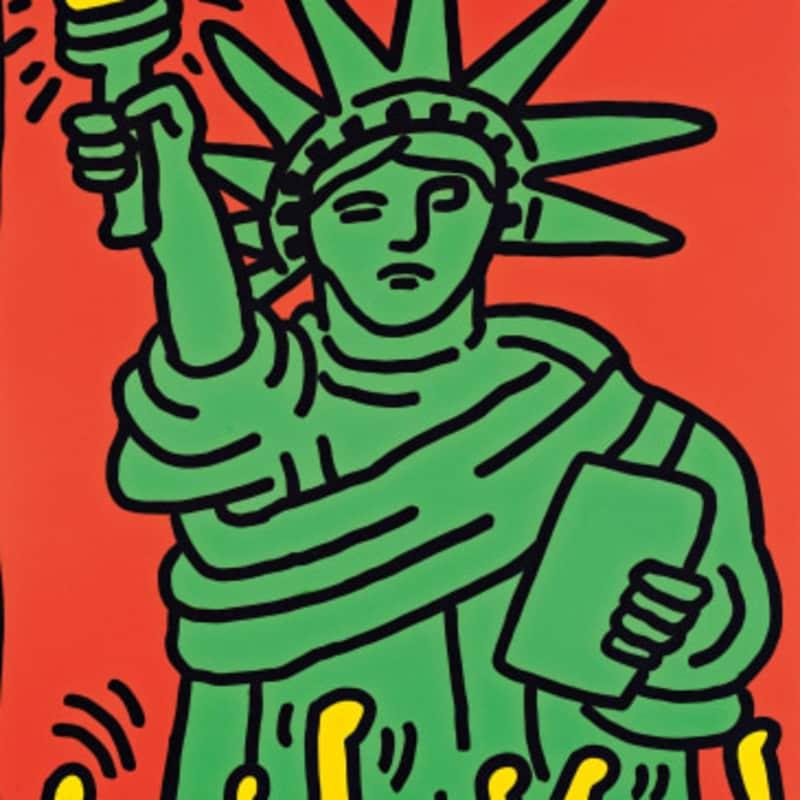 Artwork image: KEITH HARING Statue of Liberty