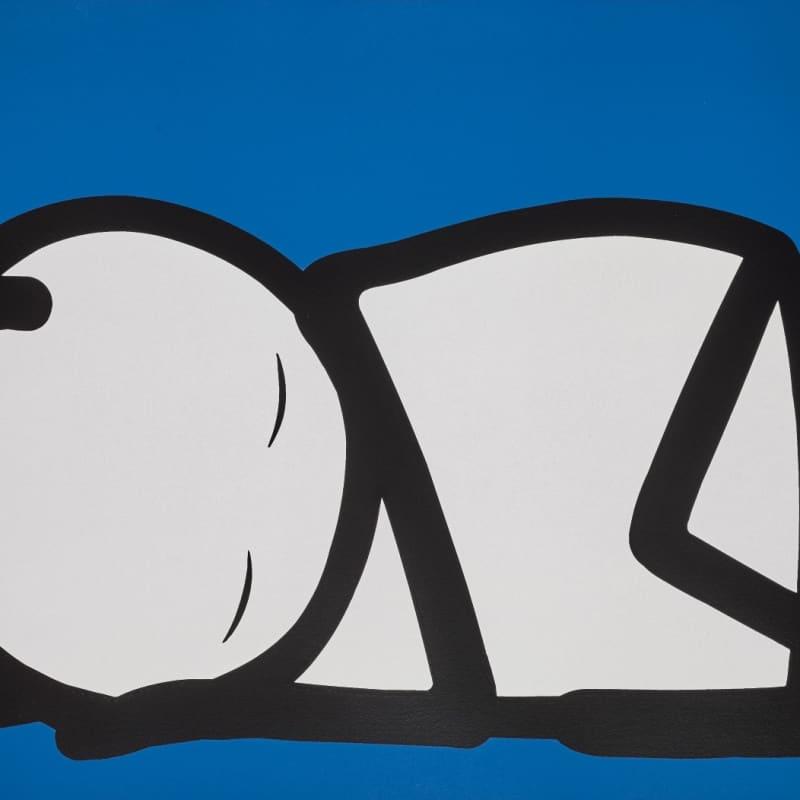 Artwork image: STIK Sleeping Baby (NHS Blue)