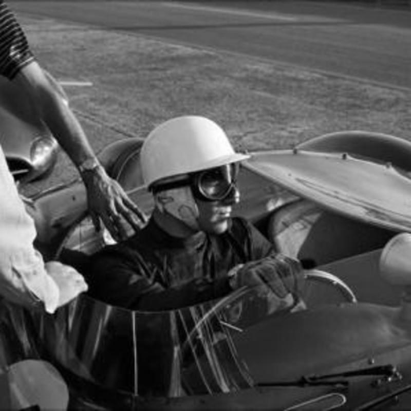 STIRLING MOSS, ASTON MARTIN, LE MANS, 1958