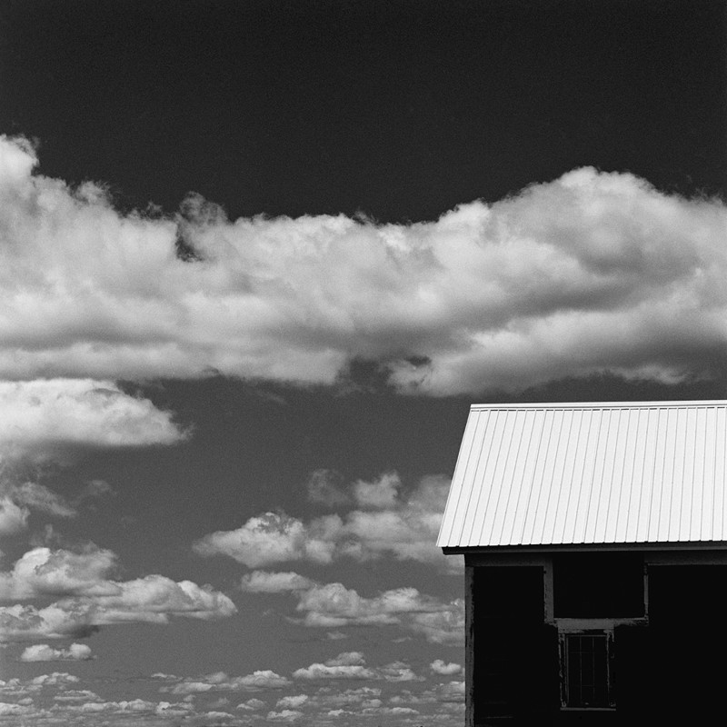 WHITE SHED & CLOUDS