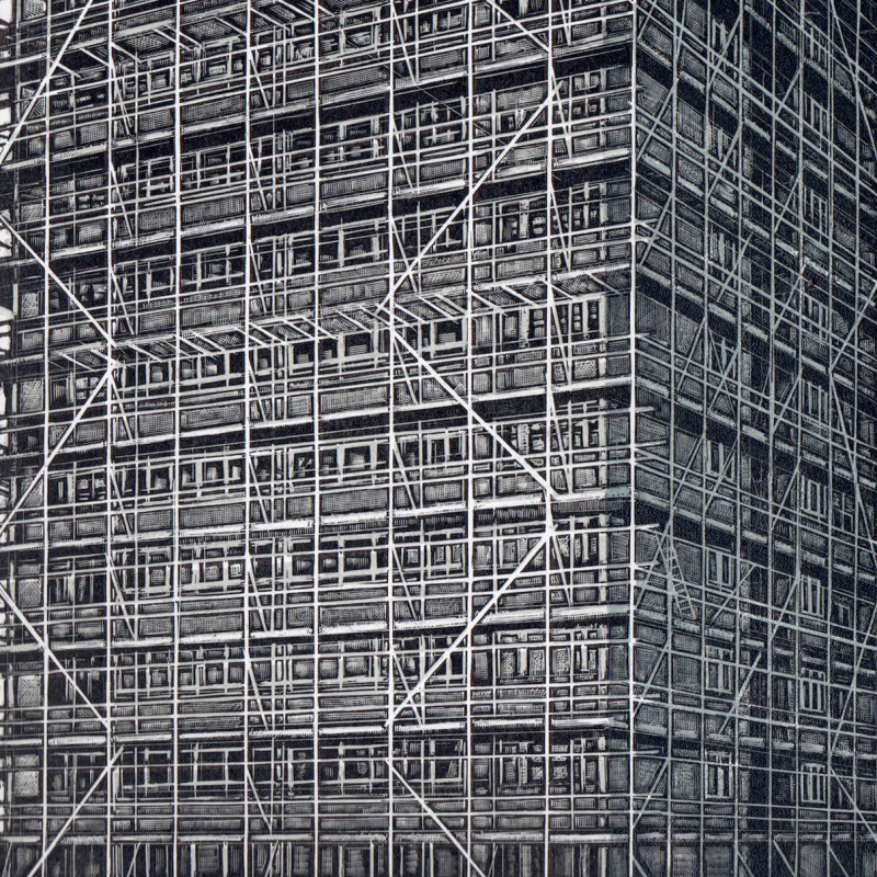 Scaffolding on Langford House