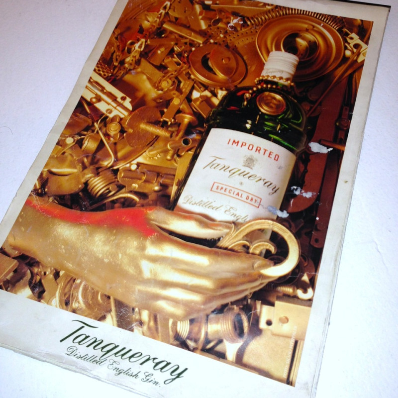 Assemblages, Tanqueray Gin, ad commission, 1990