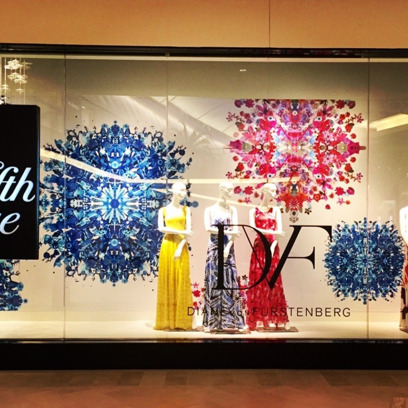 Diane Von Fustenberg, Saks Fifth Ave commission, 2015