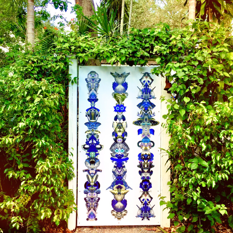 (341) Amulets for Light, front gate project, 2017