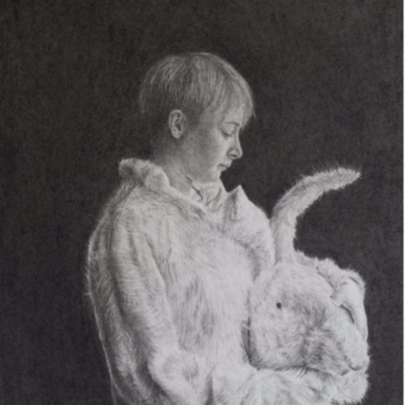 Charles Moxon, Girl In Rabbit Costume (study), 2013