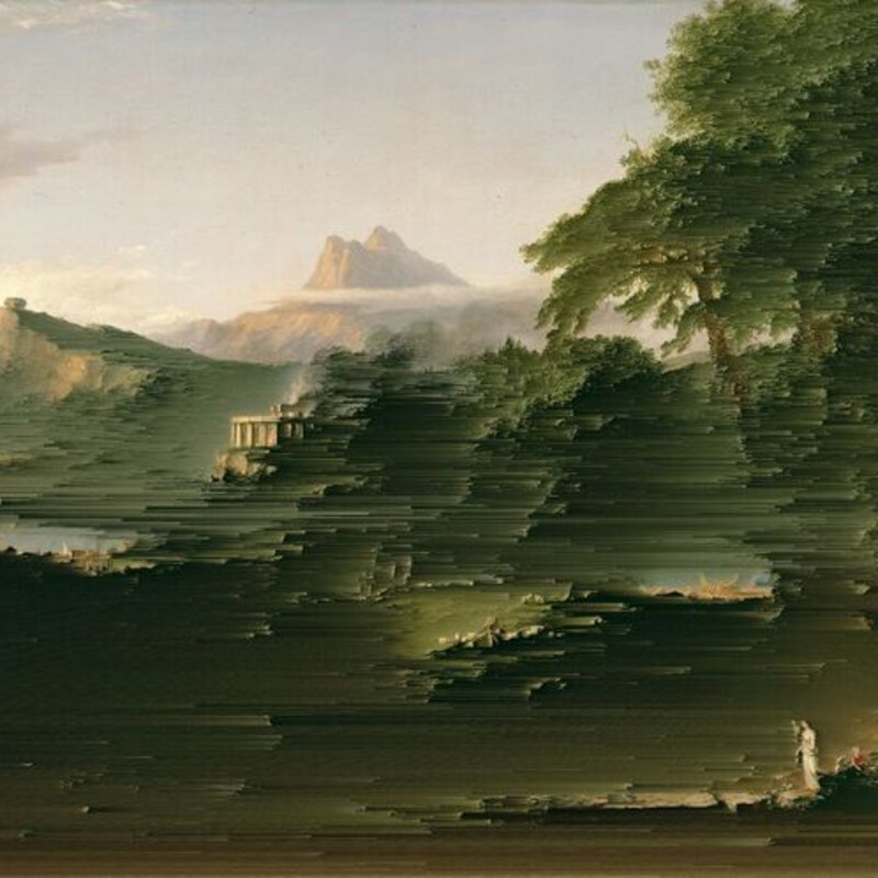 Gordon Cheung, The Course of Empire- The Arcadian or Pastoral State (After Thomas Cole), 1974-75, 2016-17