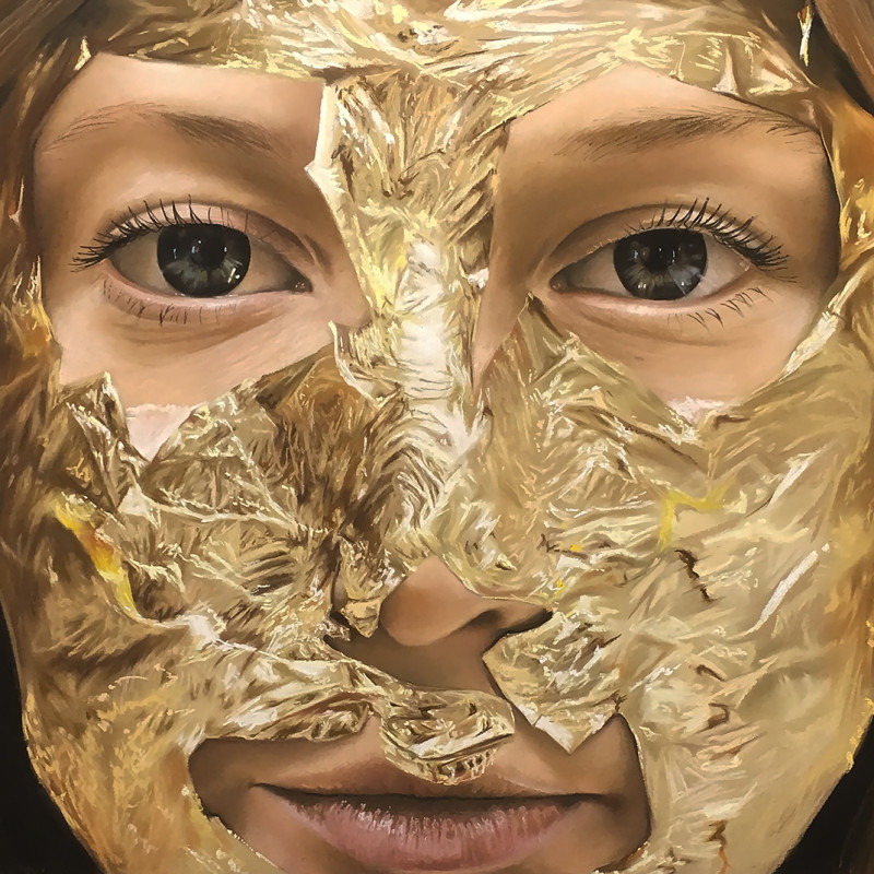 Oliver Jones, Gold Lead Face Mask II, 2018