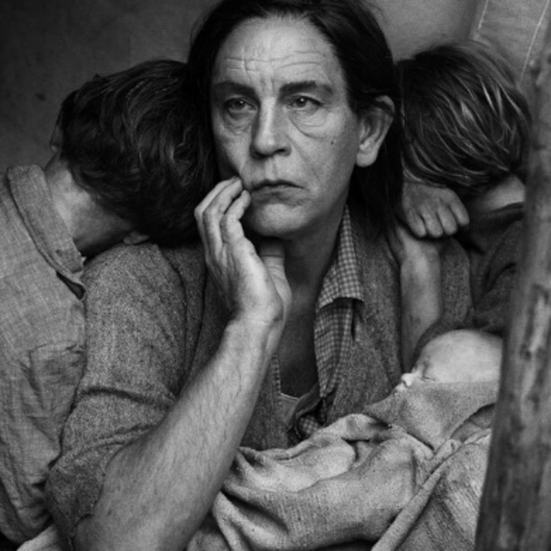 Sandro Miller, Dorothea Lange / Migrant Mother, Nipomo, California(1936), 2015