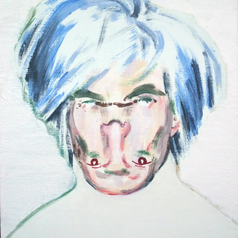 Darren Coffield, Shockheaded Warhol I [Study], 2010