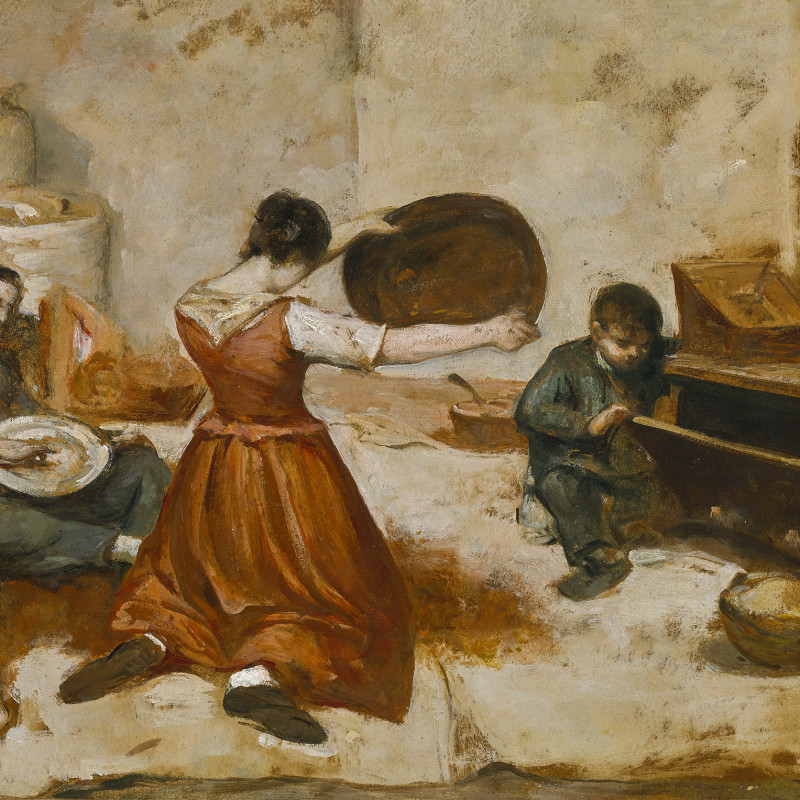 STUDY FOR LES CRIBLEUSES DE BLÉ (THE GRAIN SIFTERS)