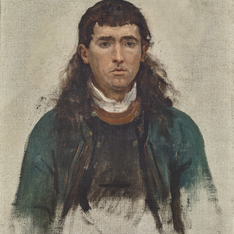 STUDY FOR UN GRAND PARDON BRETON (PORTRAIT D'HOMME)