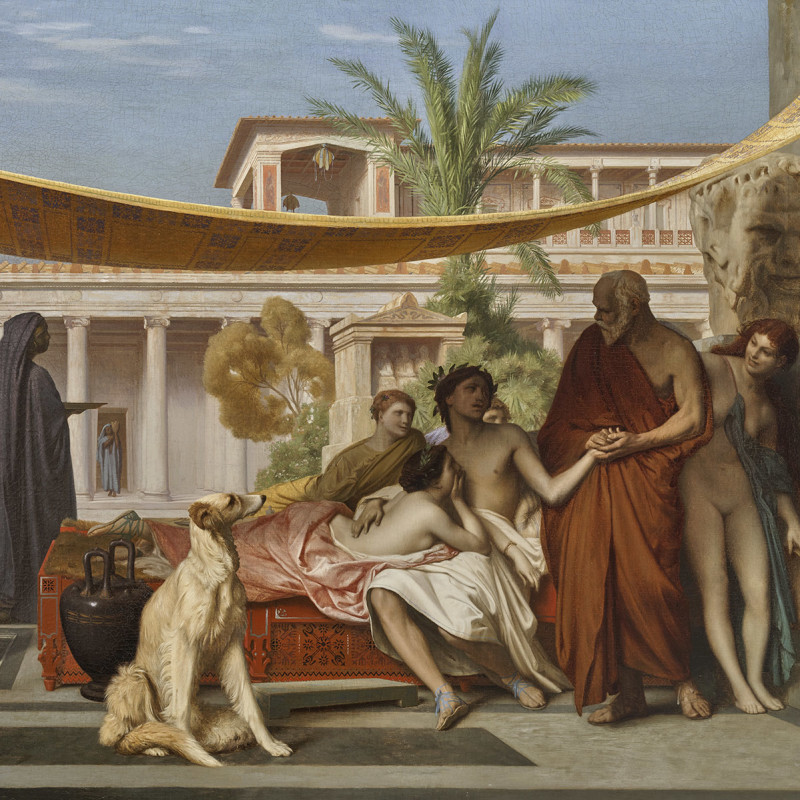 SOCRATES SEEKING ALCIBIADES AT THE HOUSE OF ASPASIA