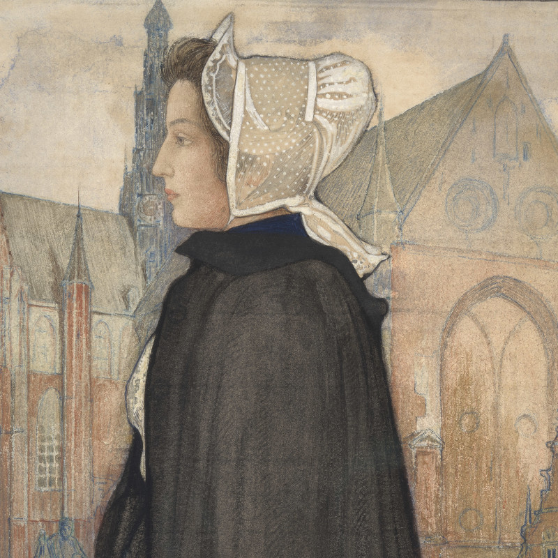 Standing Woman in Profile - Study of a Dutch Type