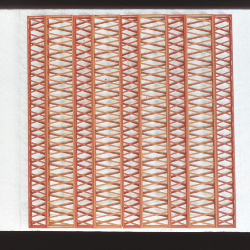Rasheed Araeen, Untitled-4W+5R-70-x-66-x-4-in, 1971