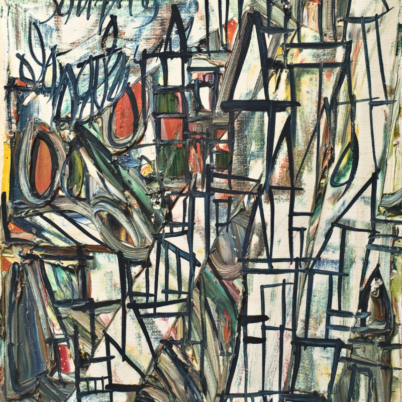 <span class=&#34;artist&#34;><strong>Francis Newton Souza</strong></span>, <span class=&#34;title&#34;><em>Abstract Landscape</em>, 1963</span>