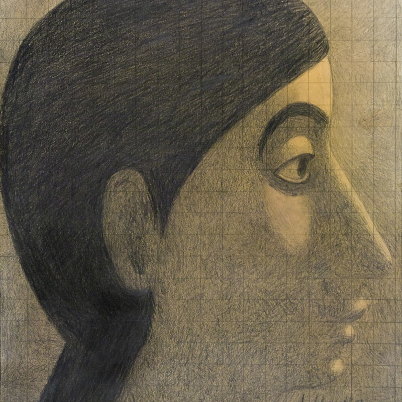 <span class=&#34;artist&#34;><strong>Victor Newsome</strong></span>, <span class=&#34;title&#34;><em>The Virgin Mary aged 12, right profile</em>, 2009</span>
